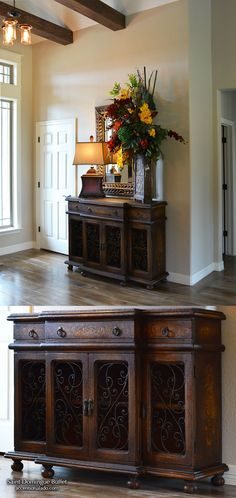 ♥NEW INTRODUCTION - Old World Hand Painted Furniture Dining Room Buffet Saint Domingue at Accents of Salado. ONLINE SHOPPING - JUST CLICK