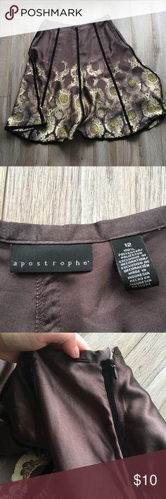 NWT silk skirt earthy silk skirt. never worn Apostrophe Skirts Midi