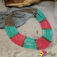 """Choose happiness wear our Bliss Necklace for only $24. Enter """"FREESHIPPING"""" for orders $25 and above when you checkout from our online. #Necklace #Bliss #India #Treasures #TreasureHunt #Tibet #Tibetan #Turquoise #TibetanCoral #StatementJewelry #Jewelry #IndianJewelry #IndianTreasures #Gold #Red #Beads #Hippie #Luvgypsy #Boho #Gypsy #Tribal #Summer #Hippie #VibrantColors #BohoChic #Bohemian #BohemianJewelry #GypsyNecklace #SummerCollections #BohemianNecklace"""