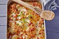 Gnocchi - Tuna - Bake by semmelknöderl Sicilian Recipes, Greek Recipes, Egg Recipes, Tuna Casserole, Casserole Dishes, Casserole Recipes, Healthy Gluten Free Recipes, Healthy Pasta Recipes, Cooking Dishes