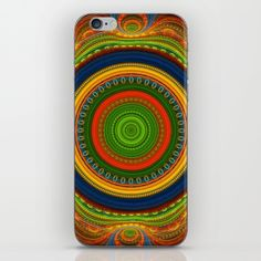 Buy Groovy colourful fractal mandala with lace-like patterns iPhone & iPod Skin by thea walstra. Worldwide shipping available at Society6.com. Just one of millions of high quality products available.