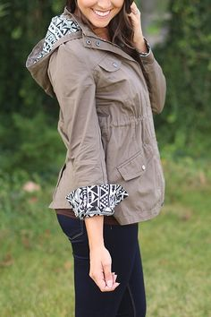 Stitch fix: great coat! LOVE the lining!! I also love the drawstring waist :)