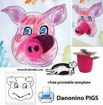children activities, more than 2000 coloring pages Farm Animal Crafts, Pig Crafts, Farm Crafts, Farm Animals, Diy Paper Christmas Tree, Christmas Colors, Art For Kids, Crafts For Kids, Arts And Crafts
