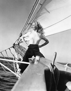 summers-in-hollywood: Veronica Lake sailing, 1941 : Golden Age Of Hollywood, Vintage Hollywood, Classic Hollywood, In Hollywood, Hollywood Actresses, Vintage Photos Women, Vintage Pictures, 1940s Woman, Veronica Lake