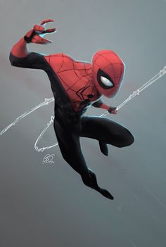Growing up a big fan of spidey alot of my time drawing when I was younger was with spiderman. Comic Book Characters, Comic Character, Comic Books Art, Comic Art, Character Drawing, Character Design, Amazing Spiderman, All Spiderman, Marvel Art