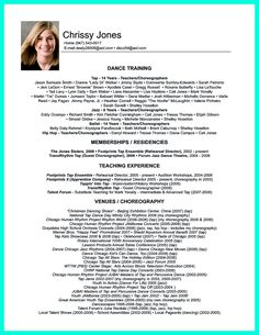 dance resume can be used for both novice and professional dancer most job of dancer has minimum requirements that not all of dancers can meet how - Dance Teacher Resume