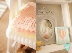 Soft Pastel Hot Air Balloon Nursery by DesignLovesDetail.com. Such a cute blog!!