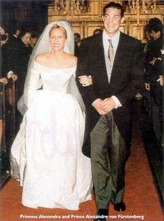Prince Alexander von Furstenberg with his first wife Alexandra on their wedding day 1995