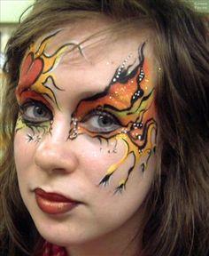 orange yellow eye design