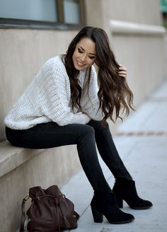 chunky boots with skinny jeans and mesh top