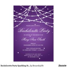 Bachelorette Party Sparkling String Purple