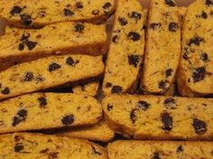 Farmgirl's toasted almond chocolate chip biscotti. Excellent with chocolate drizzled over the top and dipped in coffee
