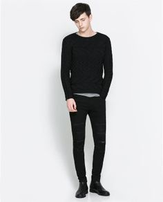 ZARA - MAN - STRUCTURED SHINY JUMPER - 300 good collar and structure