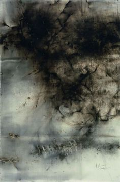 Coming! Cai Guo Qiang (°1957) Gunpowder on paper 2006 H 200 cm x W 300 cm.