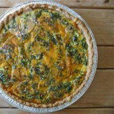 Foto recept: Spinazie, champignon en feta quiche