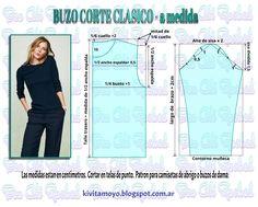 T-shirt length sleeve Dress Making Patterns, Easy Sewing Patterns, Pattern Making, Paper Clothes, Sewing Clothes, Crochet Clothes, Blouse Patterns, Clothing Patterns, Fashion Sewing