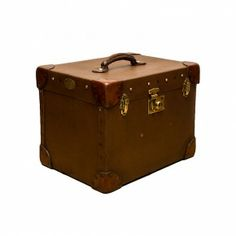 Decoration Archive Canvas & Leather Hat Box - Vintage - Accessories Homes of Elegance