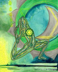 Yoga Art Print | 8x10 | Heart Chakra | gift for yogi | chakra art | chakra wall art Active