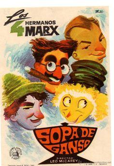 FOLLETO DE CINE: SOPA DE GANSO DE LOS HERMANOS MARX