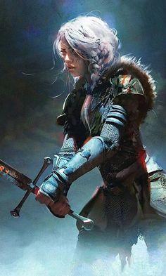 Fantasy Art Warrior, Fantasy Races, Fantasy Rpg, Medieval Fantasy, Female Character Design, Character Concept, Character Art, Concept Art, Fantasy Inspiration