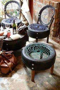 Sedie con pneumatici