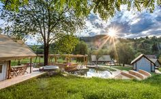Safari Tents with a Jacuzzi on a Private Vineyard in Slovenia #adria #adriahome #adriamobilehome #glamping #glampingvacation #glampingresort #vacation #vacationresort #couplesgetaway #holidayresort #familyvacation #familyholiday