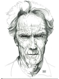 Diego Schirinzi - CLINT EASTWOOD - portraits illustrations