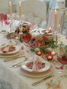 Spring table deco