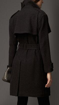 Trench coat wrap de cashmere | Burberry