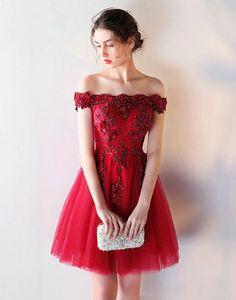 Rochie scurta bordo Luxury Lilis Elegant Prom Dresses, Cheap Prom Dresses, Homecoming Dresses, Sexy Dresses, Strapless Dress Formal, Evening Dresses, Bridesmaid Dresses, Formal Dresses, Off The Shoulder Dress Formal