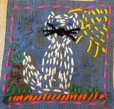 Stitching- 2nd grader