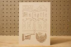 Majestic Beard Appreciation Card