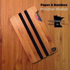 Our Made in #Minnesota, #Paper & #Bamboo #Minimal #Wallet, fits any pocket, & holds what you need! If we just made #iPhone cases, we'd still be #awesome!