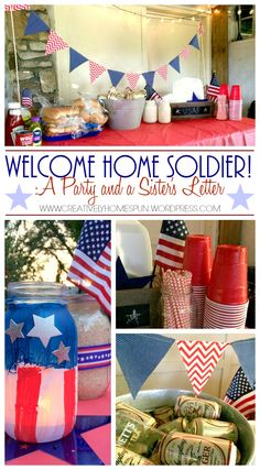 1000 ideas about welcome home soldier on pinterest for Military welcome home party decorations