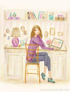 Fashion Illustration Custom Family Portait Fashion Sketch by Reani