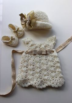 Vintage Downton Abbey Inspired Crochet Baby by PatternsByKrissy