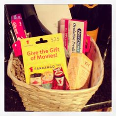 DIY bridal shower or wedding gift basket. Was given this as a cute wedding prese. - Football wedding - football stadiums, friends, family and tons fun. Pregnancy Gift Baskets, Pregnancy Gifts, Pregnancy Test, Wedding Gift Baskets, Wedding Gifts, Homemade Gifts, Diy Gifts, Cute Gifts, Best Gifts