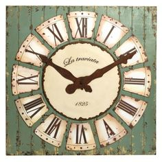 Decorative Wall Clock $211.00 #thebellacottage #shabbychic #SALE