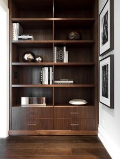 Exotic wood built ins by Croma Design