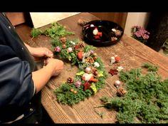 Wreath フローリストいかるが Florist Ikaruga クリスマスリース 作り方/2