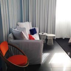 Blanc Kara boutique hotel in Miami Beach. Love the punch of orange.