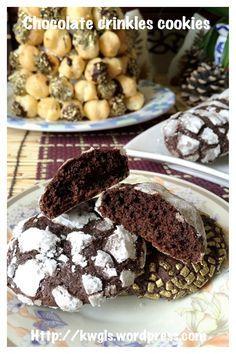 Chocolate Crinkles Cookies (巧克力皱纹曲奇)#guaishushu #kenneth_goh   #chocolate_crinkles_cookies  #巧克力皱纹曲奇