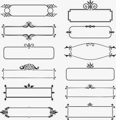 Vintage lace, Text Bottom Frame, Title, Euporean PNG and Vector Decorative Lines, Decorative Frames, Floral Vector Free, Cnc Cutting Design, Boarder Designs, Frame Template, Tag Templates, Trophy Design, Journal Fonts