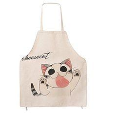 Adults Fashion Personalized Cartoon Aprons Creative Cat Funny Kitchen Bib Apron Kitchen Cooking Baking Housework Apron