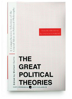 The Great Political Theories cover designed by Gregg Kulick for HarperCollins