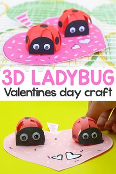 Today we made a spinning 3D Valentines Day paper ladybug craft to share it with you. This project is easy to make with simple steps to follow.