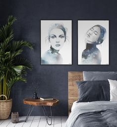 Beautiful art prints illustrated by Norwegian artist and designer Linda Skaret, available in several sizes. Beautiful Ladies, Modern Bedroom, Interior Inspiration, Painting & Drawing, Gallery Wall, Packaging, Art Prints, Drawings, Frame