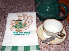 Teapot steeped with joy by IrishNanaDesigns on Etsy, $13.49