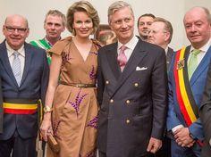 Queen Mathilde and King Philippe visits the Cultural Center in Ghent