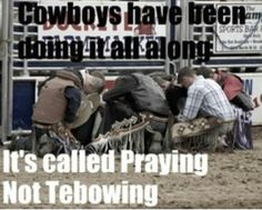 Cowboys have been doing it all along. It's called Praying not Tebowing!
